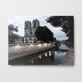 the hunchback of notre dame - seine Metal Print