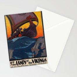 Vintage poster - Scandinavia Stationery Cards