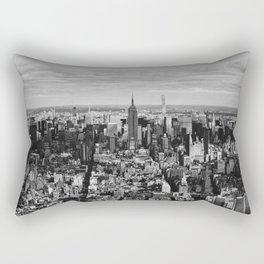 where dreams are made of (black and white) Rectangular Pillow