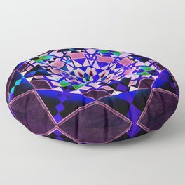 Purple, blue shapes and paterns Floor Pillow