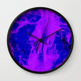 Microcosmos Violeta Wall Clock