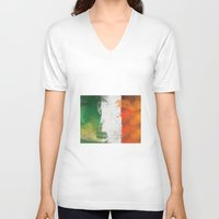 ireland V-neck T-shirts featuring Ireland by Fresh & Poppy
