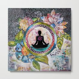 Meditation bag Metal Print
