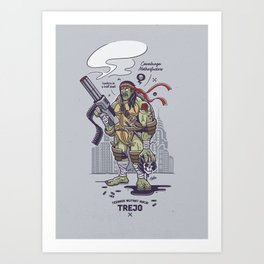 Danny Trejo - Hombre In A Half-Shell Art Print