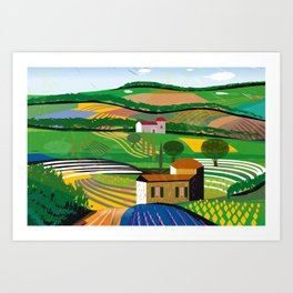 Green Fields Art Print