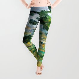 12,000pixel-500dpi - Paul Cezanne - Mont Sainte-Victoire and the Viaduct of the Arc River Valley Leggings
