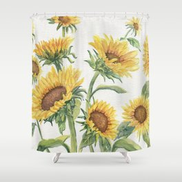 Blooming Sunflowers Shower Curtain