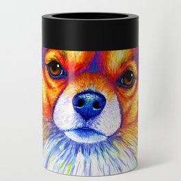 Colorful Long Haired Chihuahua Dog Can Cooler