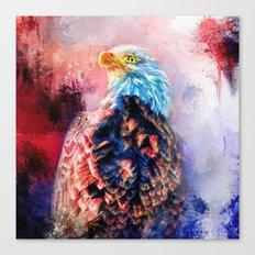 Jazzy Bald Eagle Colorful Bird Art by Jai Johnson Canvas Print