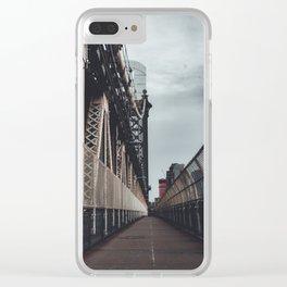 Manhattan bridge walkpath Clear iPhone Case