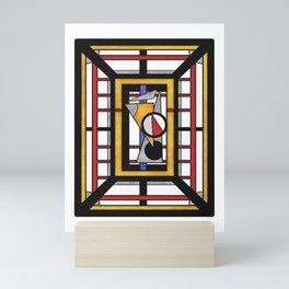 Geo 34 = Abstract Geometric Design Mini Art Print