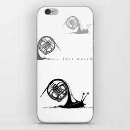 Just moved.  (French Horn) iPhone Skin