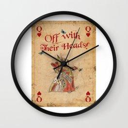 Alice in Wonderland The Queen of Hearts Wall Clock