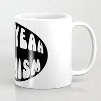 feminism Mugs featuring F*ck Yeah Feminism by Elanor Jarque