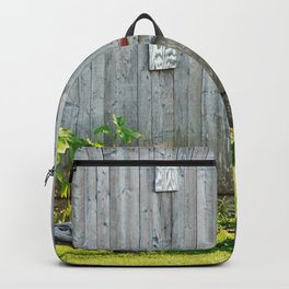Barn Dog watches over the tomatoes Backpack