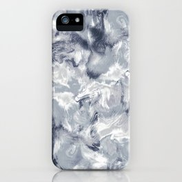 Marble Mist Cool Grey iPhone Case