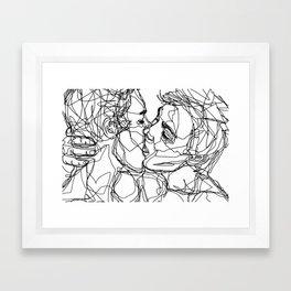 Boys kiss too Framed Art Print