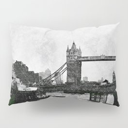 Life on the Thames - London, England Pillow Sham