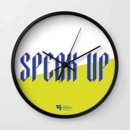 Speak Up Wall Clock