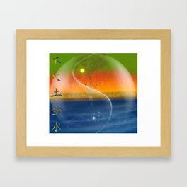 Feng Shui five elements Framed Art Print