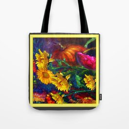 Sunflowers & fruit Fall Still Life Painting Tote Bag