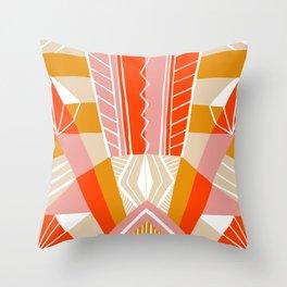 salida, woven rug pattern Throw Pillow