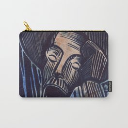 Don Quixote in Blue and Rust Carry-All Pouch