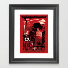 B-Movie Framed Art Print