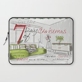 SEVENTH DAY OF CHRISTMAS WEIMS Laptop Sleeve