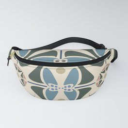 Blue Tulips - Circle Pattern Fanny Pack