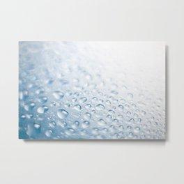 Colorful liquid droplets background wallpaper Metal Print
