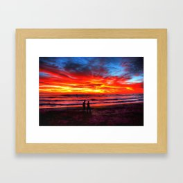 Flaming Sky * Costa Rica Framed Art Print