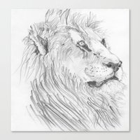 leon Canvas Prints featuring Leon by Amy Lawlor Creations