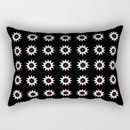 stars 49- Dark and red Rectangular Pillow