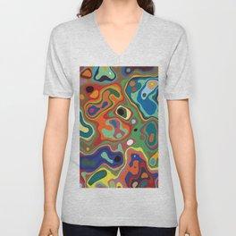 Abstract Art Unisex V-Neck