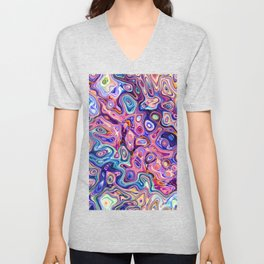 Chaotic Abstract Shapes Unisex V-Neck