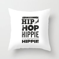 hip hop Throw Pillows featuring Hip Hop by Leeroy