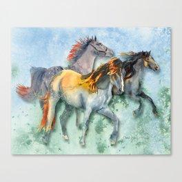 Daniel Adams Multi-Horses Canvas Print