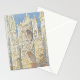 Claude Monet - Rouen Cathedral, West Façade, Sunlight Stationery Cards