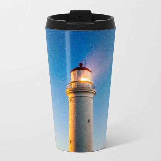 Lighthouse at night Metal Travel Mug