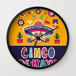 Cinco de Mayo – Scull Wall Clock