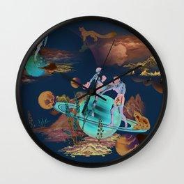 Muay Thai On Space Wall Clock
