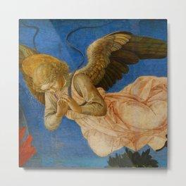 "Francesco Pesellino and Fra Filippo Lippi ""The Pistoia Santa Trinità Altarpiece"" angel 2. Metal Print"