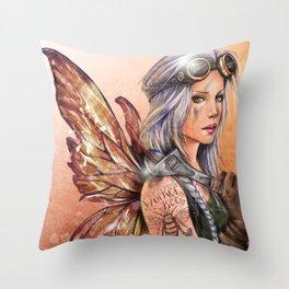 Engineer Fairy Throw Pillow