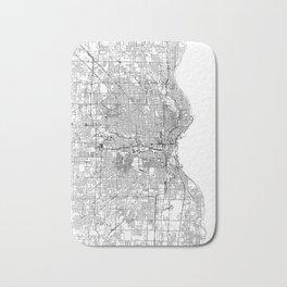 Milwaukee White Map Bath Mat