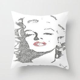 Marilyn Monroe written portrait Throw Pillow