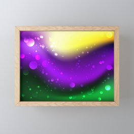Abstract Mardi Gras Background Framed Mini Art Print