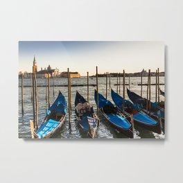 Gondolas in Venice (c) Metal Print