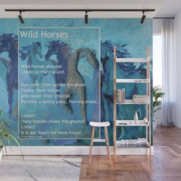 Wild Horses: Poem and Painting Wall Mural