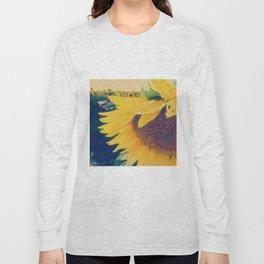 sunflower and little bee Long Sleeve T-shirt